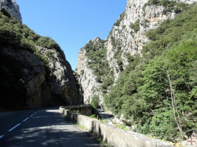 Weg en bergen
