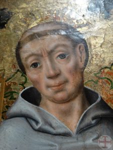 Sfeerbeeld bij mediteren: een monnik (detail van een schilderij) die een innerlijke raadgever zou kunnen zijn